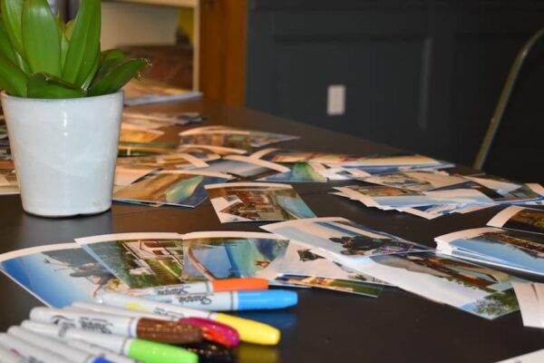 Vision Board Party Supplies Poster Boards, Sharpies and Photos