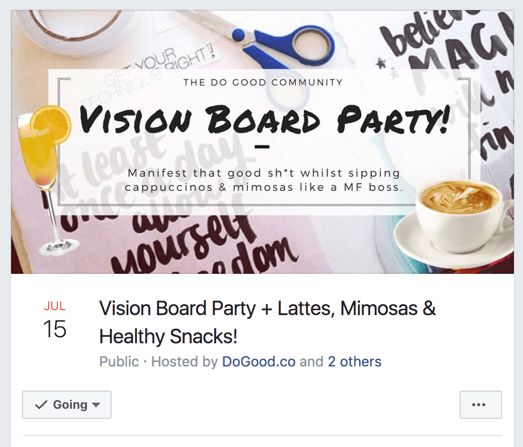 Vision Board Party Facebook Event Cover Photo