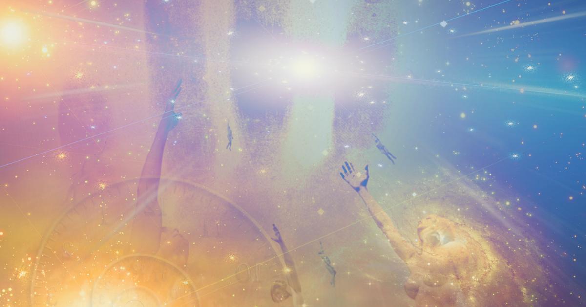 Spirit guides universe rainbow hands