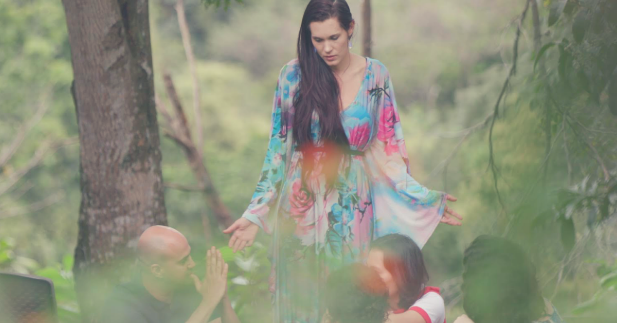 Teal Swan in forest with people - loneliness