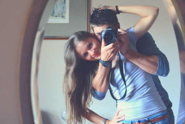 Relationships are mirrors, couple, camera