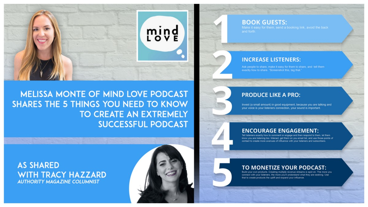 Melissa Monte of Mind Love Podcast shares 5 things you need to know to create an extremely successful podcast