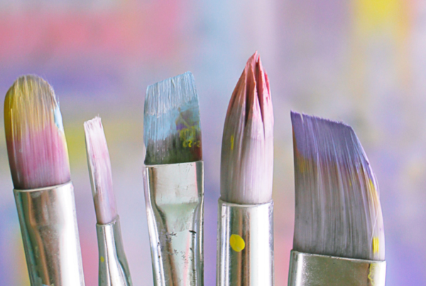 Painting, paint brushes and creativity