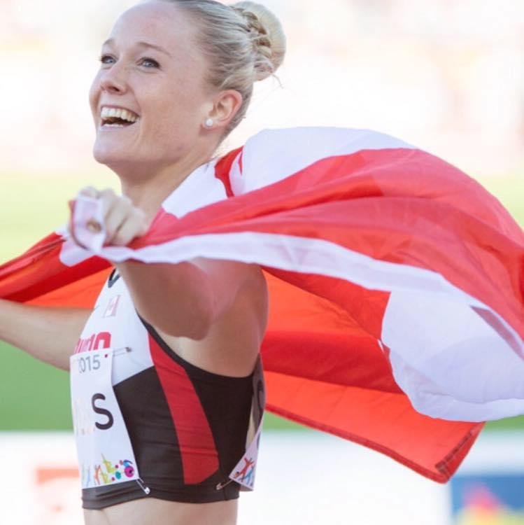 Sarah Wells winning Olympics