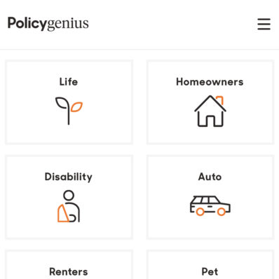 Policy Genius compare insurance quotes